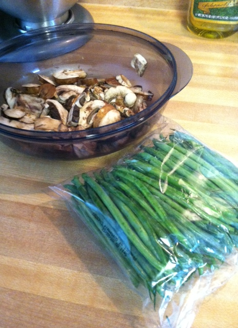 Roasted Green Beans with Mushrooms, Balsamic, && Parmesan ...